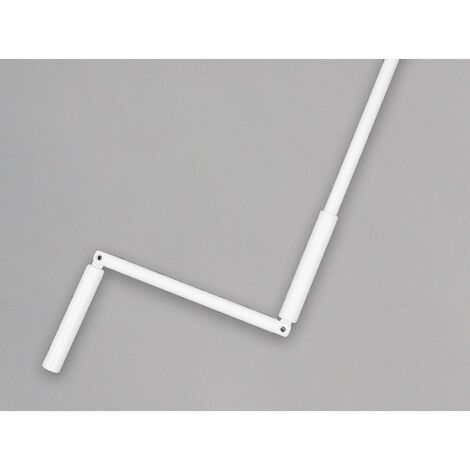 Manivelle complète avec tige hexagonale 10 mm en acier laqué blanc - Blanc