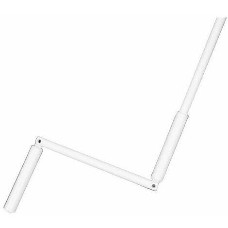 Manivelle complete - En acier blanc - Sortie hexagonale : Ø 10 mm - L 140 cm