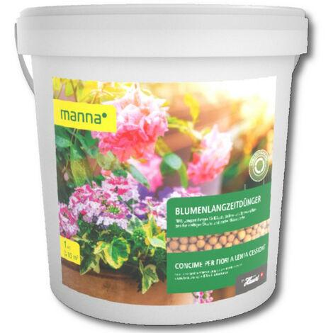 Manna engraisà long terme pour fleurs 1 kg engrais pour fleurs, engrais pour géraniums, engrais de balcon, parterres
