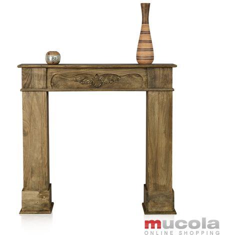 mannequin de cheminée console en bois accessoires de cheminée antique déco salon