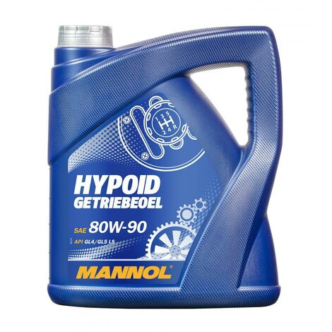 MANNOL - Huile de transmission Hypoid GL-5 - 80W90 - 4L - MN8106-4