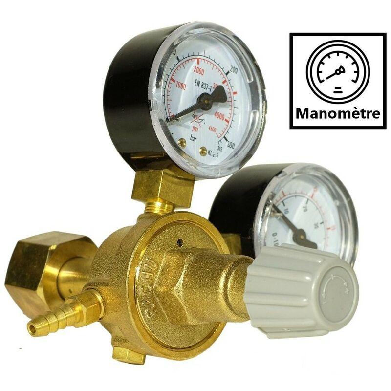 Mano Detendeur Mig Pour Bouteille Gaz Industriel Argon Co2 138