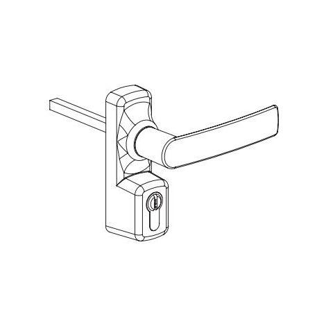 Manoeuvre extérieur Oltre avec cylindre FAPIM - blanc 9010 - 8568A/32