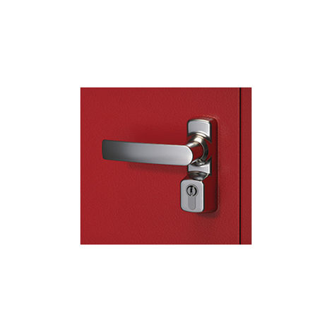 Manoeuvre extérieur Oltre avec cylindre FAPIM - gris 9006 - 8568A/G5