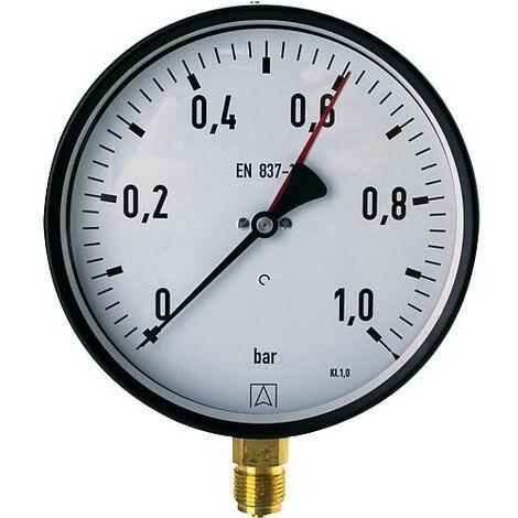 Manometre 0-2,5 bar 160mmÝ G1/2
