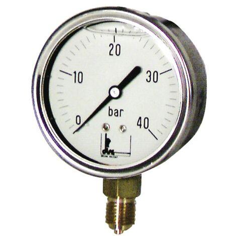Manomètre 0 à 40 b Ø63mm