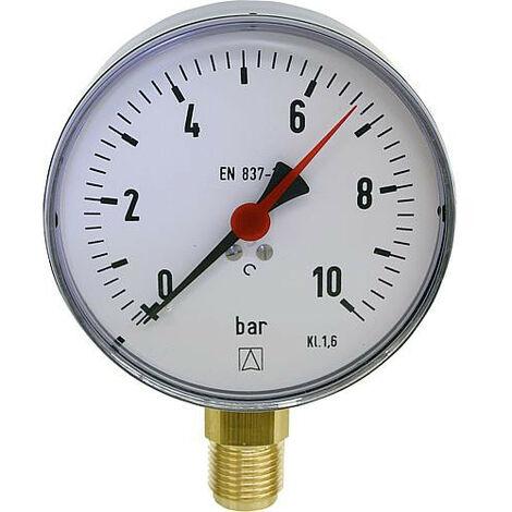 Manometre -1/+1,5 bar 100mmÝ G1/2