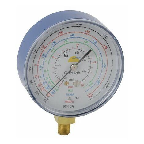 Manomètre Ø80mm BP CLIM -1 à 20b antipulsation - GALAXAIR : 811-C-N