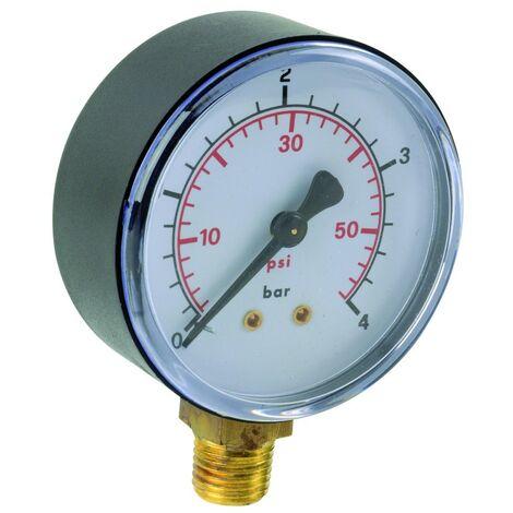 "Manomètre ABS vertical D63 0/25bar G1/4"""