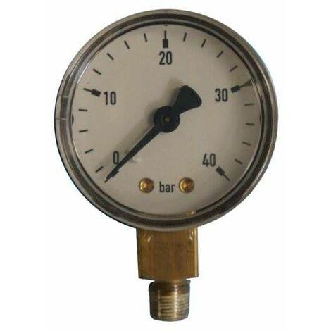 Manomètre acétylène : D.50 - HP 40 bars