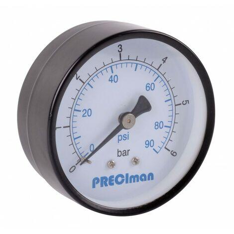 """Manomètre acier axial D50 0/10bar G1/4"""""""