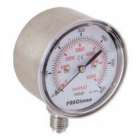 """Manomètre acier vertical D63 0/250mbar G1/4"""""""