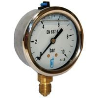 Manomètre bain d'huile boitier inox rv Laiton DN63 1,6b 8x13