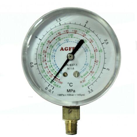 manomètre basse température R22, R134A, R407C / b63mm Aucun pont