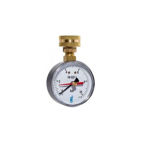 Manomètre Contrôle de Pression Réseau - Radial Sec 0-10 Bars