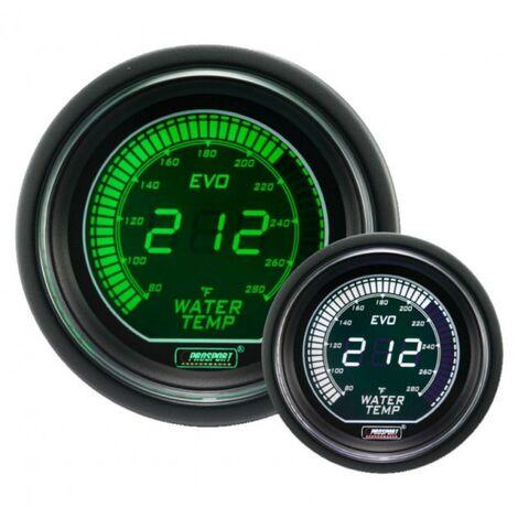 Manometre de Temperature Eau ProSport Digital - Vert Blanc