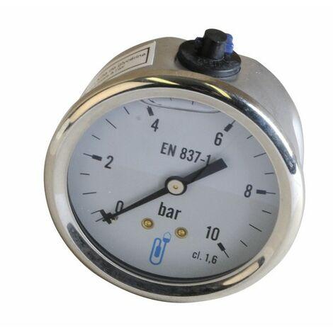 Manomètre glycérine 0-10b Ø63mm