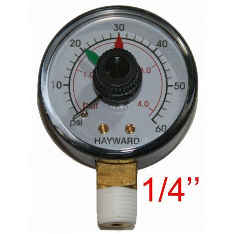 """Manomètre Hayward - ECX271261 pour piscine 1/4"""" -Manomètre de Remplacement Filtre a Sable Piscine"""