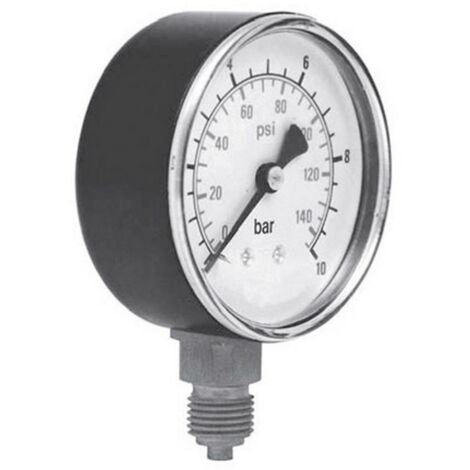 Manomètre ICH 301.40.10 Raccordement (manomètre) par le dessous 0 à 10 bar Filetage extérieur 1/8 1 pc(s)
