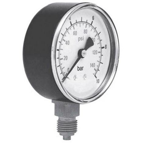Manomètre ICH 301.40.16 Raccordement (manomètre) par le dessous 0 à 16 bar Filetage extérieur 1/8 1 pc(s)