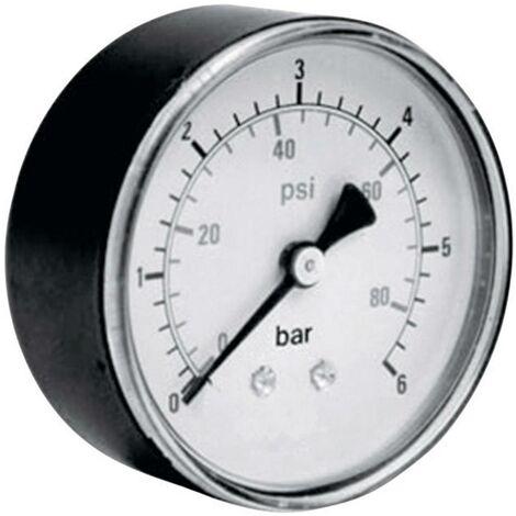 Manomètre ICH 306.40.10 Raccordement (manomètre) à larrière 0 à 10 bar Filetage extérieur 1/8 1 pc(s)