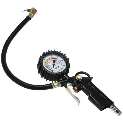 Manometre mecanique manuel Manometre de pression des pneus Detecteur de pression des pneus Noir