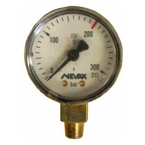 Manomètre oxygène : D.50 - HP. 315 bars