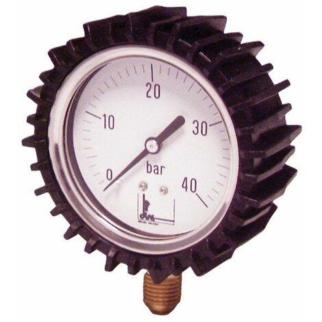 Manomètre radial glycérine 0 à 25b Ø63mm avec protection - DIFF