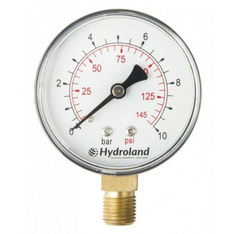 Manomètre radial latéral 0-10 bar 63 mm à ressort