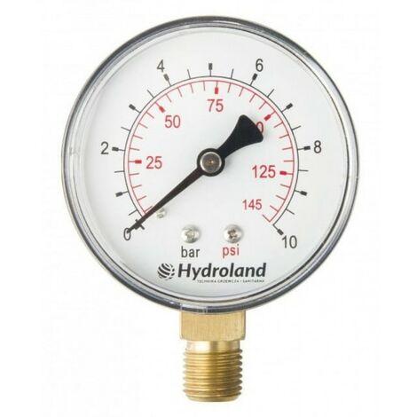 Manomètre radial latéral 0-2,5 bar 63 mm à ressort