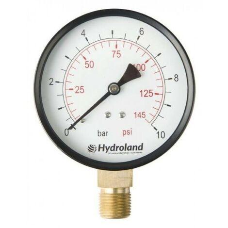 Manomètre radial latéral 0-4 bar Tube 100 mm 100,4