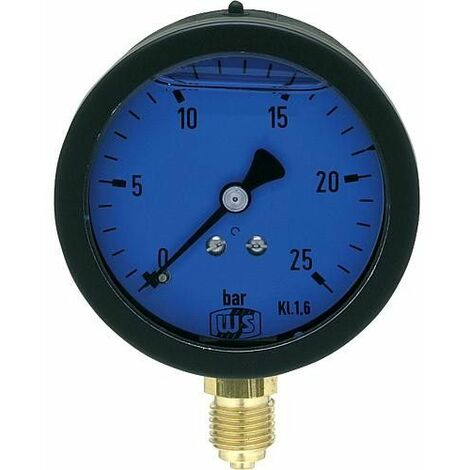 Manometre reducteur de pression hydraulique avec amorti glycerinq 0-25 bar 63 mm 1/4 dessous