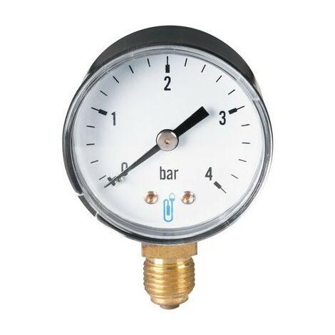 Manomètre type 116 D50mm 0 à 10b ABS rac. vert. 8x13 Réf 1162RV14D DISTRILABO