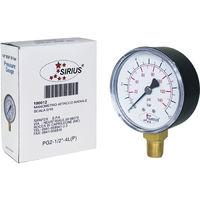 Manometro acqua 1/4 misuratore di pressione 10 bar d 63 mm autoclave tubi