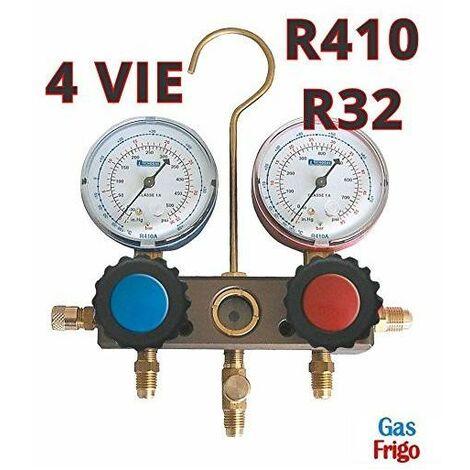 Manometro Analizador 2 Vias Gas R410A, R32