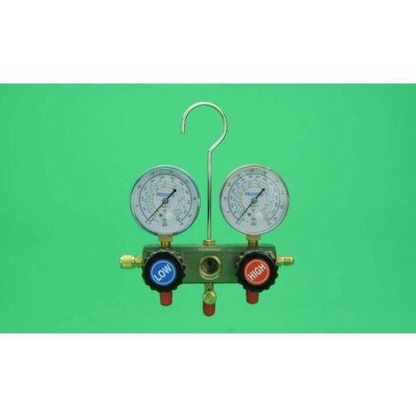 Manometro Analizador 2 Vias Gas R410A, R407, R22