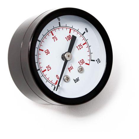 """Manómetro axial DN8 (1/4"""") 12.9mm 0-10bar"""