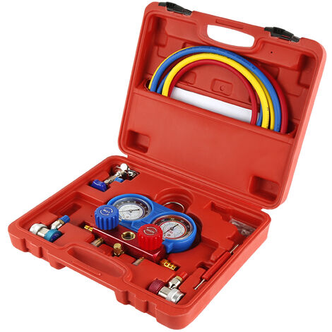 Manometro de dos vías medidor de presión gases para aire acondicionado Kit