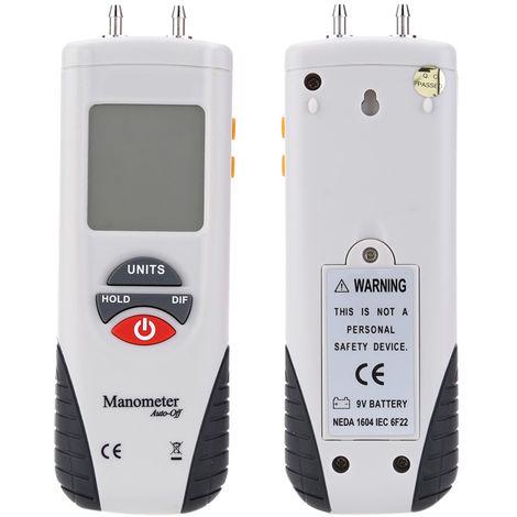 Manometro digital, medidor de presion de aire, retencion de datos ¡À 2Psi 11 unidades