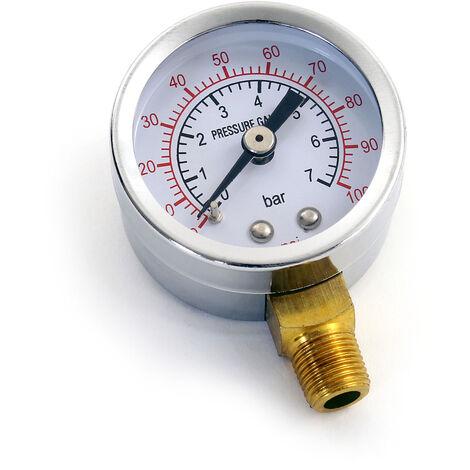 Manómetro indicador de presión para separador de agua del compresor de aerografía AS20W Accesorios