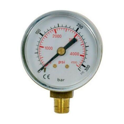 Manómetro oxígeno 0 a 16 bar/psi Ø50 1/8