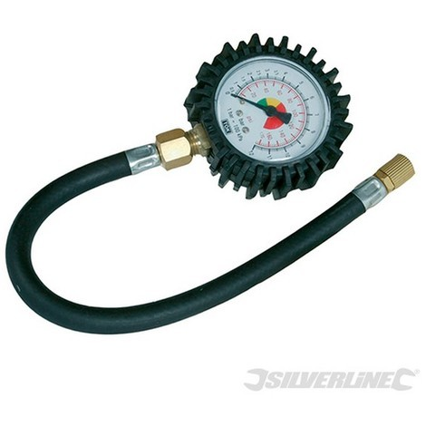 Manómetro para neumáticos (0 - 10 bar / 0 - 100 psi)