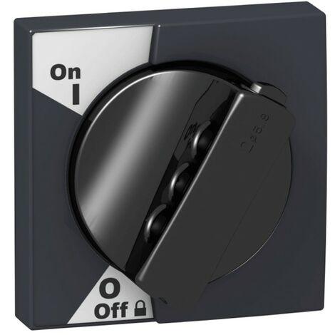 Manopola Schneider rotativa nera per IC60 A9A27005
