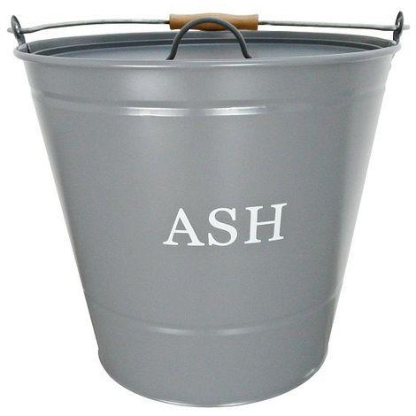 Manor Grey Ash Bucket with Lid - 32cm