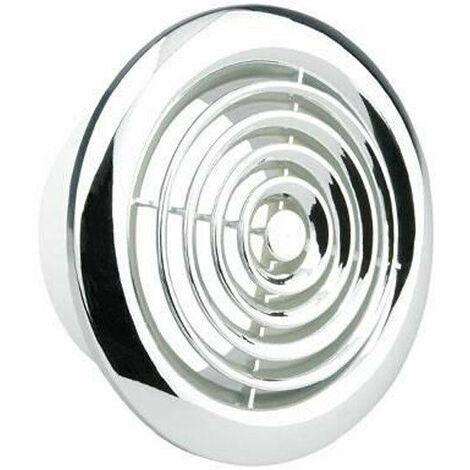 Manrose 100mm Internal Circular Grille (Chrome) - 2100C