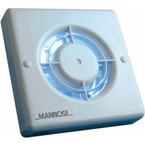 Manrose 100mm Standard Bathroom Extractor Fan With Adjustable Timer XF100T