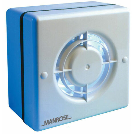 Manrose 120mm (5inch.) Axial Extractor Window Fan with Timer - WF120T
