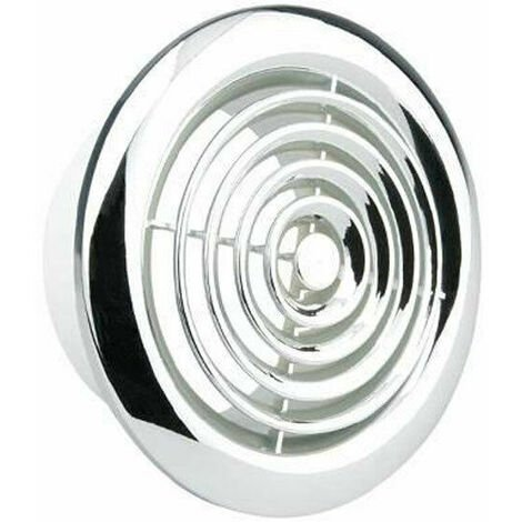 Manrose 125mm Internal Circular Grille (Chrome) - 2120C