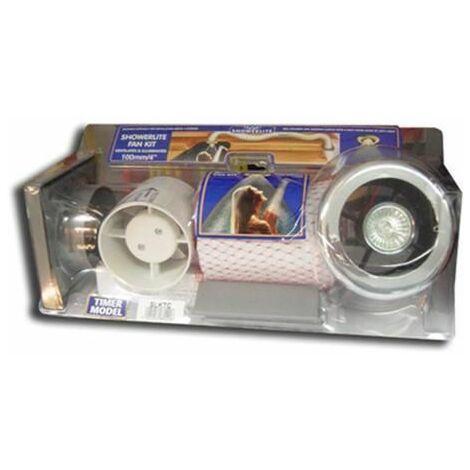 Manrose 150mm Chrome Showerlite Fan With Timer - Sl-150TC