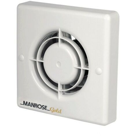 Manrose 20W Gold Axial Bathroom Extractor Fan with Pullcord - MG100P